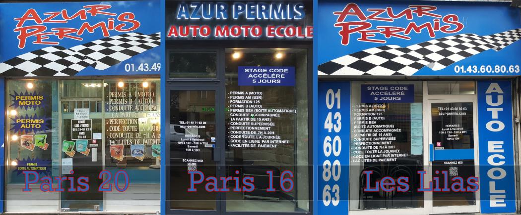 Agences auto école Azur permis